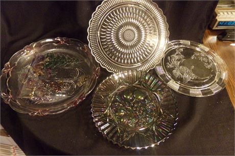 Set of 4 glass serving dishes