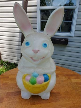 Vintage Blow Mold Lighted Bunny