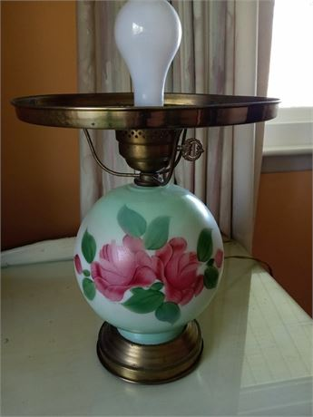 Gone With the Wind Lamp - Handpainted