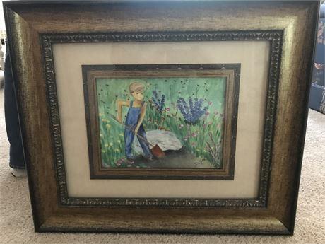 1 of 2 Beautifully Framed Original Watercolor by Doris Jira