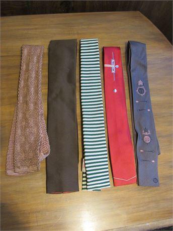 Vintage Necktie Lot 1950s & 60s