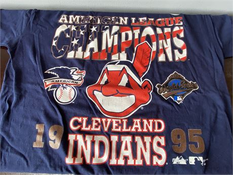 Like New 1995 American League Champions Tee in Cleveland Indians Collector's Lot