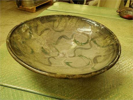 Beautiful Art Pottery Bowl Signed