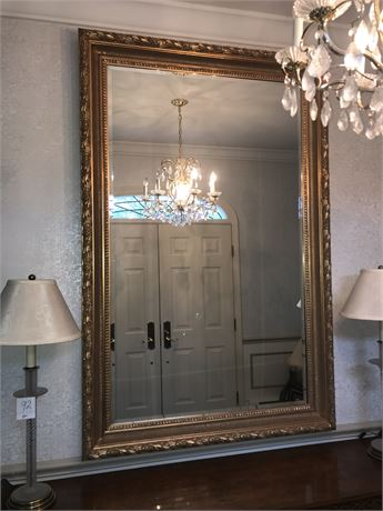 Dramatic Majestic Mirror - Over 7 Feet Tall - Amazing Frame & Beveled Glass