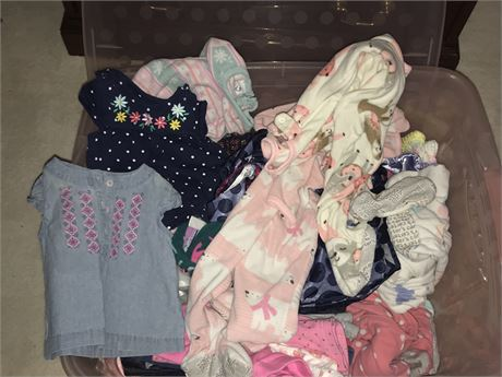 Baby Girl Clothing Lot (mostly Carters) - sizes from 3m to 12m