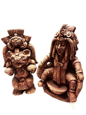 Native American Aztec Warrior and God Wall Hangers