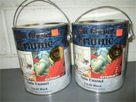 2 Gallons  Aqua Borne Ceramic BLACK Satin Enamel