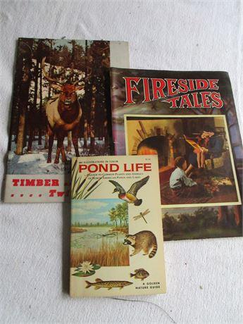 3 Vintage Wild Life & Pond Life Assorted Books Lot