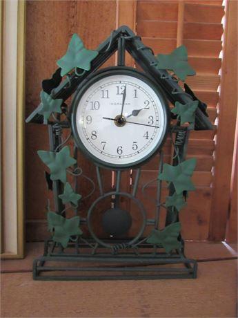 Ingraham Metal Leaf Clock