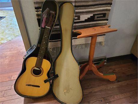 Harmony Guitar w/ Case & Stand