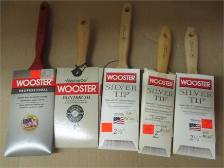 Premium WOOSTER assorted 5 Pieces Professional Paint Brush Lot