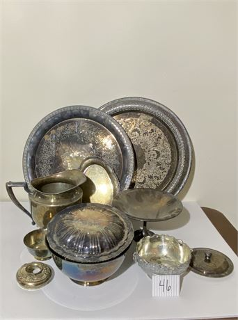 """Silver Plated Items, Incl. """"Sons of Liberty Bowl"""" by Paul Revere Reproduction"""