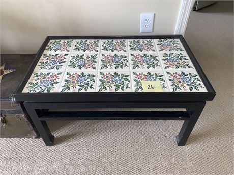 Ceramic Tile Top Coffee Table