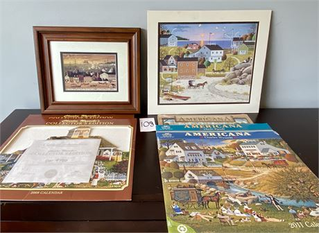 Charles Wysocki Prints and Collectible Calendars Lot