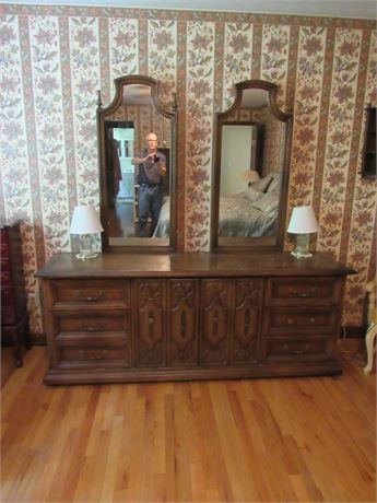 American Long Dresser w 2 Mirrors