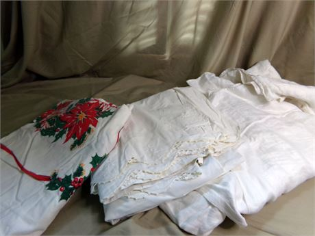 Variety of Vintage Tablecloths