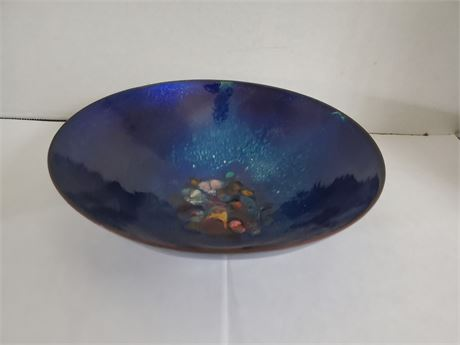 Vintage Enamel Copper Bowl