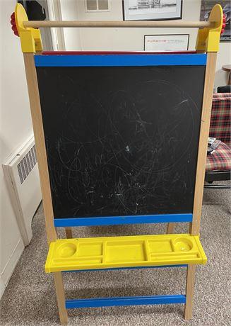 Kid's Chalk/Dry Erase Board Foldable Easel