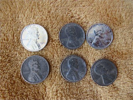 1943 Steel Penny Lot: Steelies