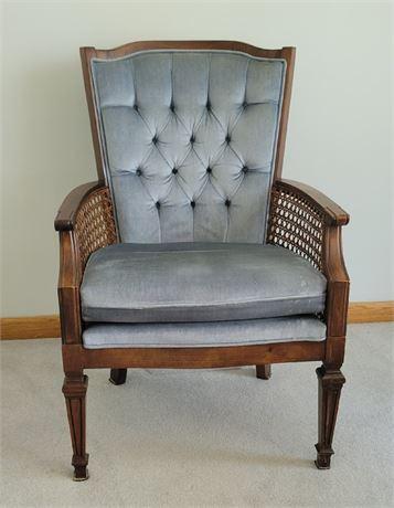 Tufted Back Rattan Arm Chair