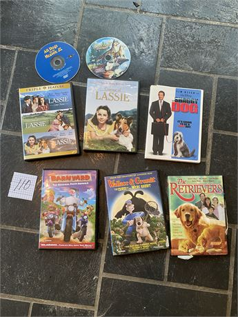 DVDs About Dogs Lot