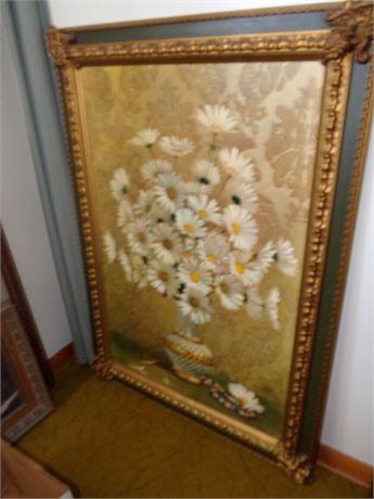 Large Framed Picture- Damask- G Stemkowski