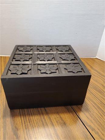 Pretty Carved Wood Box