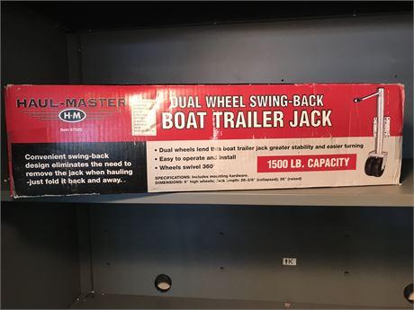 Haul Master Dual Wheel Swing Back Boat Trailer Jack -new in box