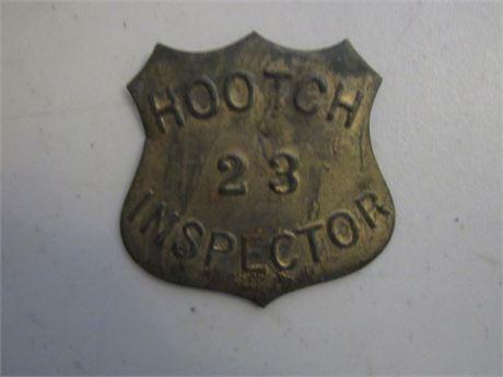 Old Hootch Inspector Badge