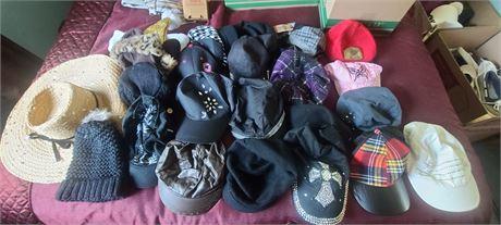 Ladies Hat Lot/Ball Caps 21 HATS