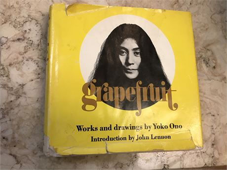 Grapefruit by Yoko Ono 1st ed. stated 1st printing with original dust jacket