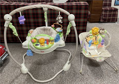 Fisher Price Calming Vibration Bouncy Seat and Jumper