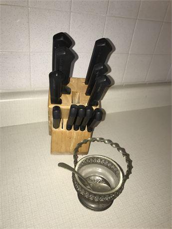 Farberware Knives Set and Sugar Bowl