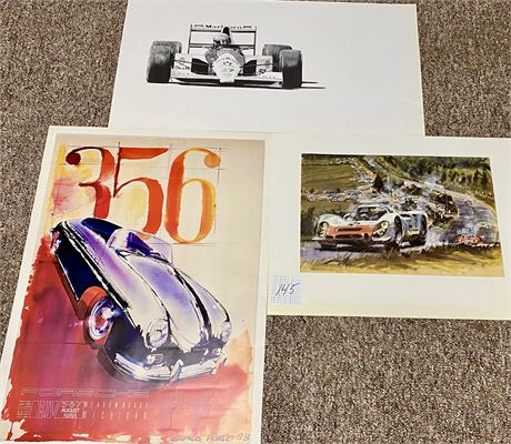 Camilo Pardo Signed & Jerry Gambaccini Signed and Numbered Porsche Art Prints
