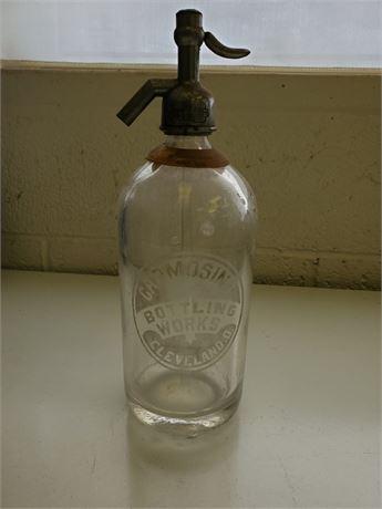 Antique Carmosino Seltzer Bottle Cleveland Ohio