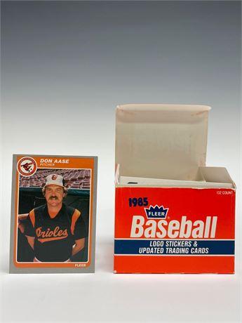 1985 Fleer Update Baseball Card Set