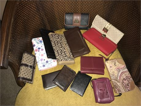 Wallets and Clutch Purses Lot