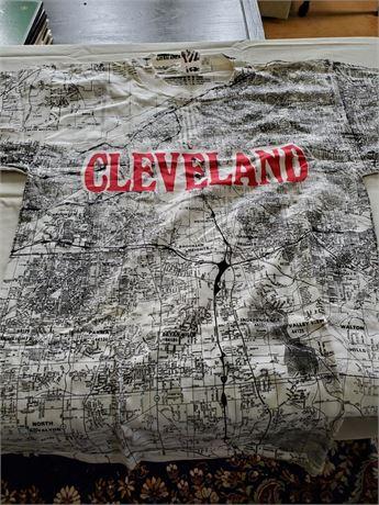 Vintage Cleveland City Map T Shirt