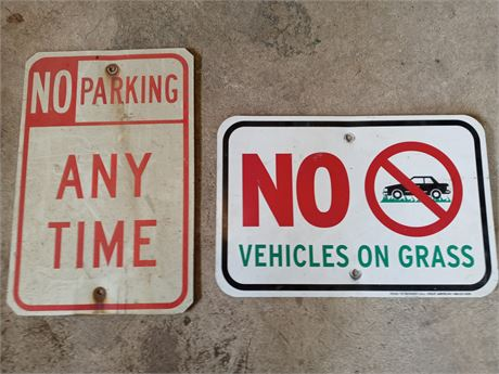Pair of street signs