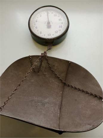 Antique Penn Double Sided Hanging Scale w/ Basket
