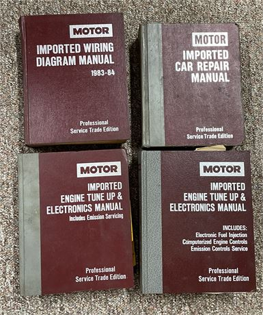 Four Motor Professional Trade Editions Books