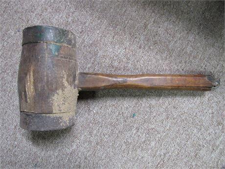 Primitive Hammer - Antique Wood & Iron