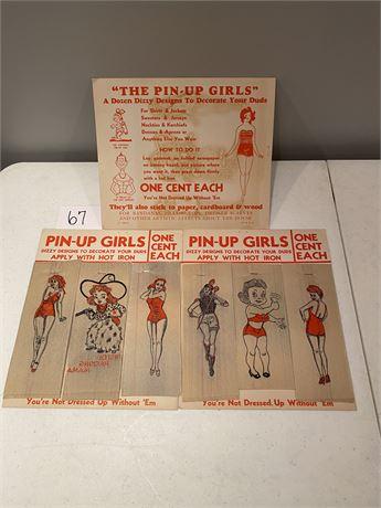 Original 1940's Pin Up Girls Iron Ons