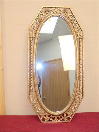 Decorative Gold Tone Mirror