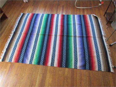Vintage Mexican Blanket, Cotton