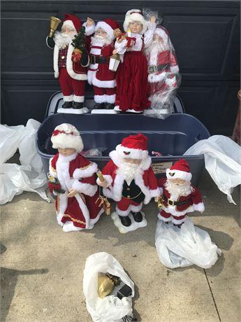 Christmas Lot of Animated Santa Claus Figures
