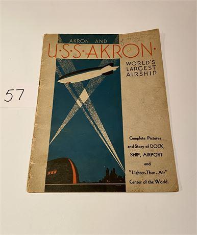 USS Akron Airship Souvenir Book