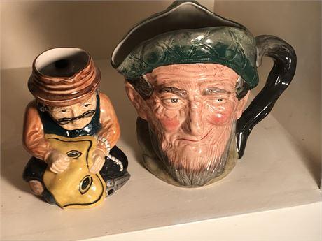 Two Toby Mugs - 1 Royal Doulton and 1 Roy Kirkham
