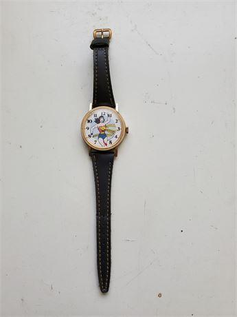 Vintage Wonder Woman Dabbs & Co. Swiss Watch