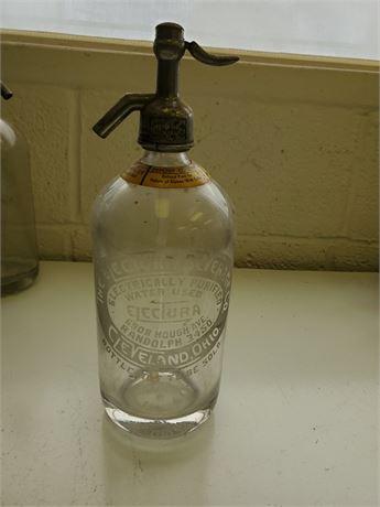 Antique The Electura Beverage Co. Cleveland Seltzer Bottle